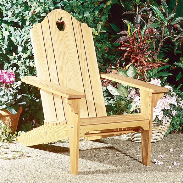 Apple Patio Folding Adirondack Chair : Large-format Paper Woodworking Plan
