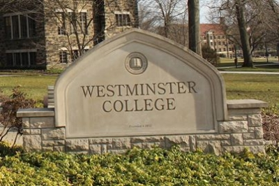 WestminsterCollege  entrance stone.