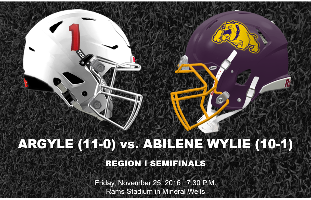 Argyle (11-0) Vs. Abilene Wylie (9-1) In Region I