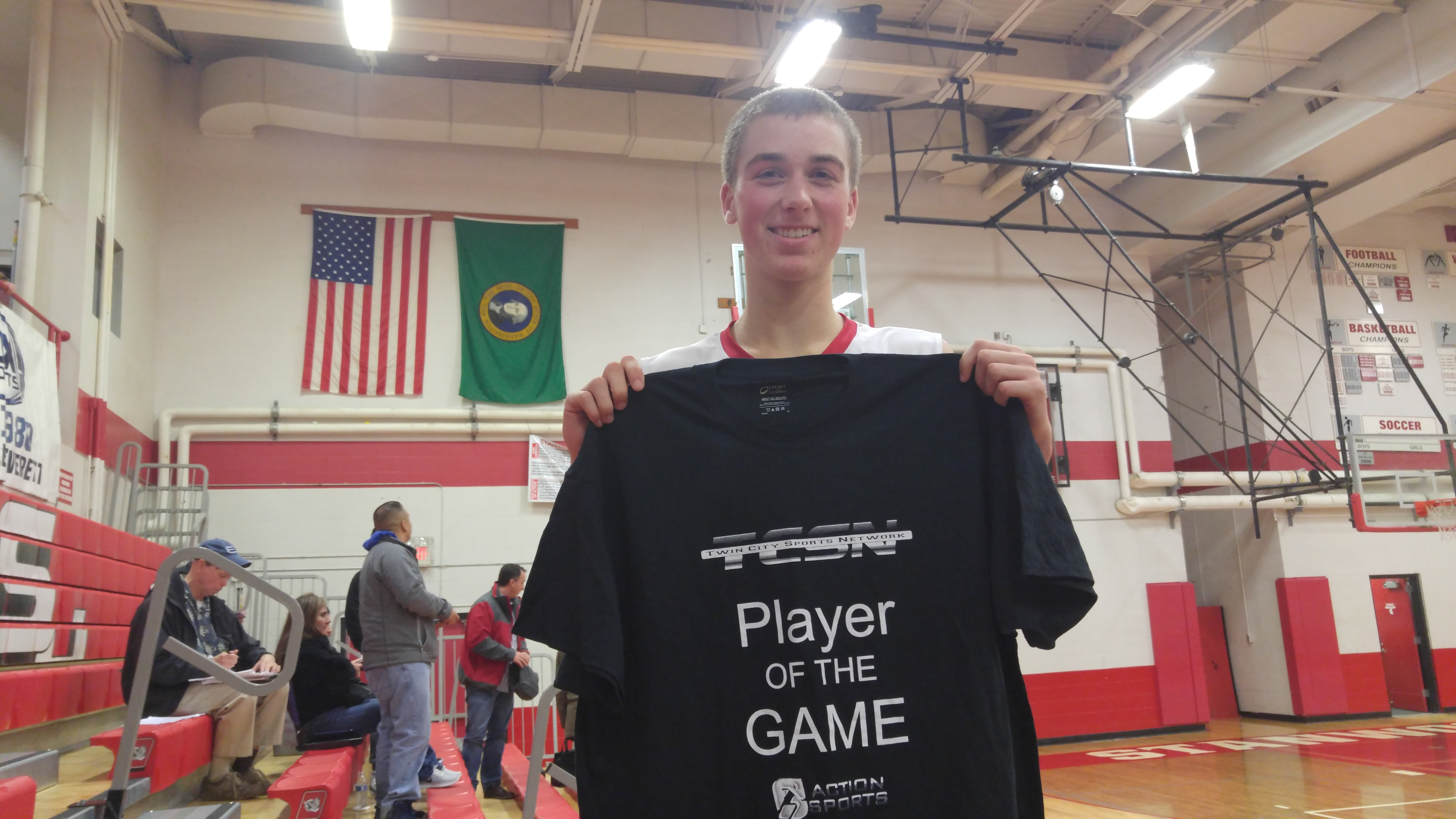 NorthSound Physical Therapy  Adrenaline Fundraising Player of the game Bryson Kelly