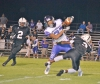 Blacksburg defensive back Netavion Thompson makes an open field tackle after Walhalla catch.