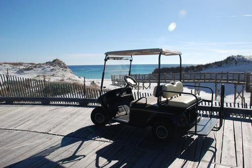 Golf car is included in rental
