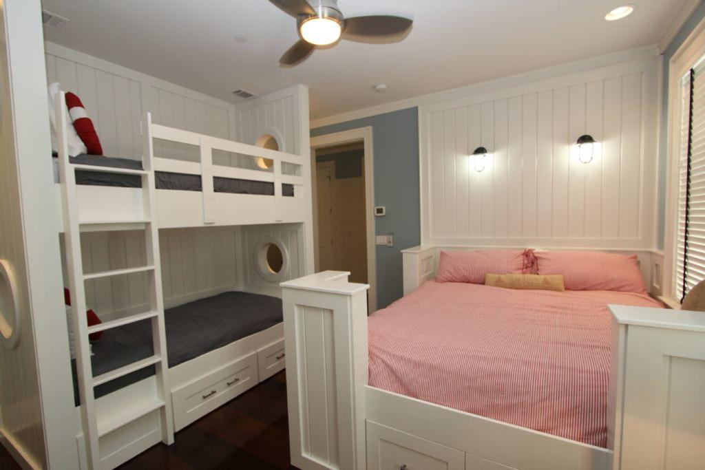 North bunk room showing bunks