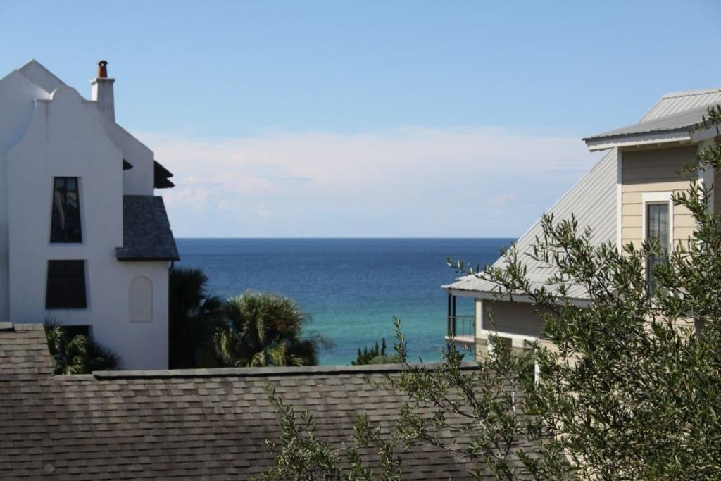 View of the gulf from the top floor balcony