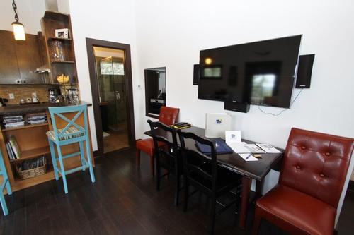 Dining table under lcd tv
