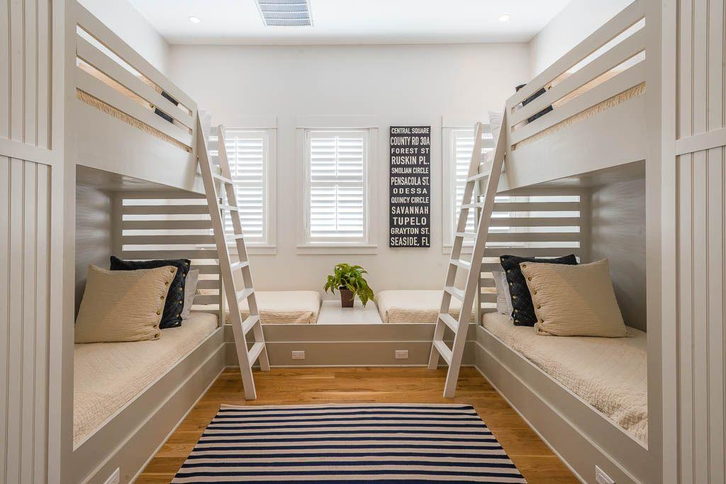 Bunk room with 6 twins built in