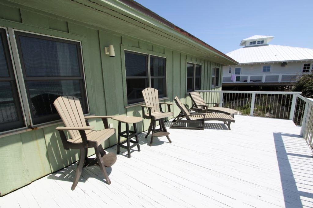 Seating on outdoor deck area