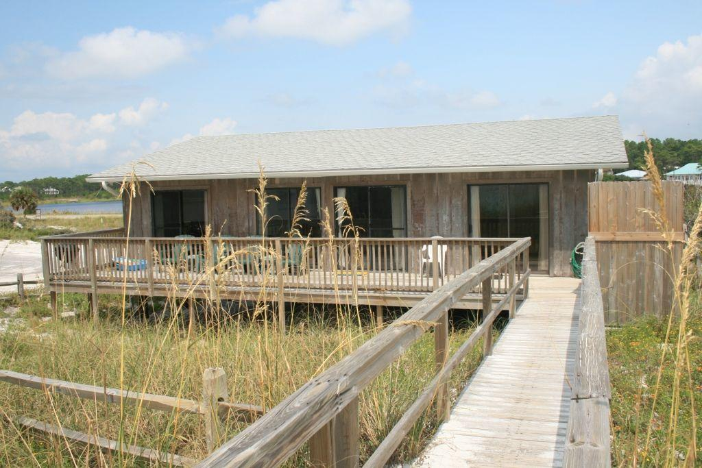 High dune gulf front home in dune allen