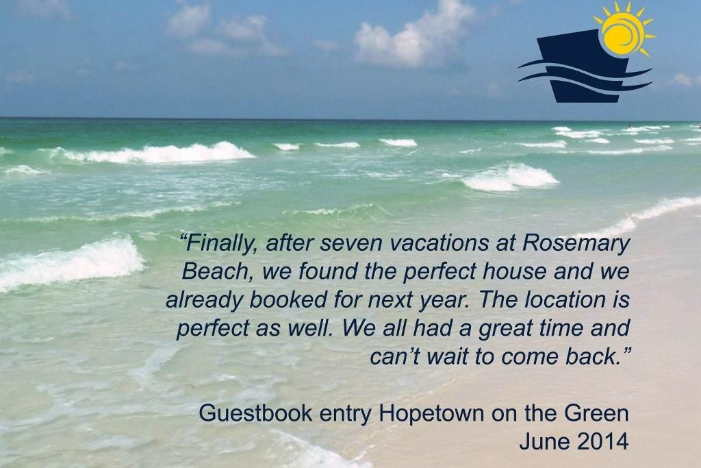 Entry hopetown on the green guestbook