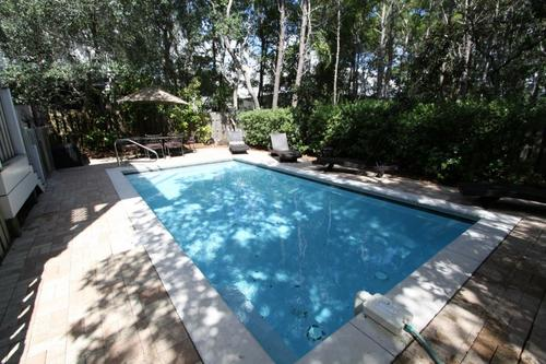 Private heated pool in secluded setting