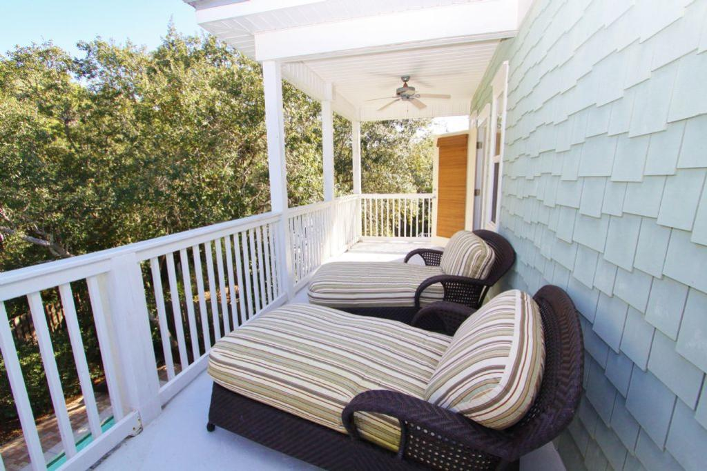 Loungers on private balcony off master