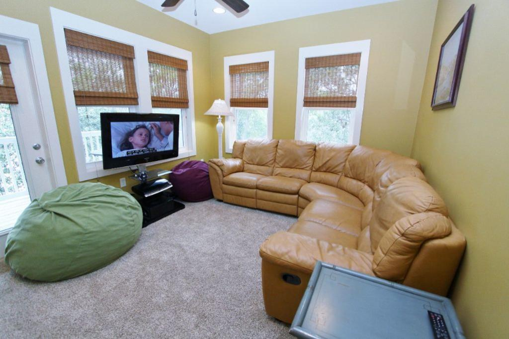 Kid s den with tv dvd and sectional seating