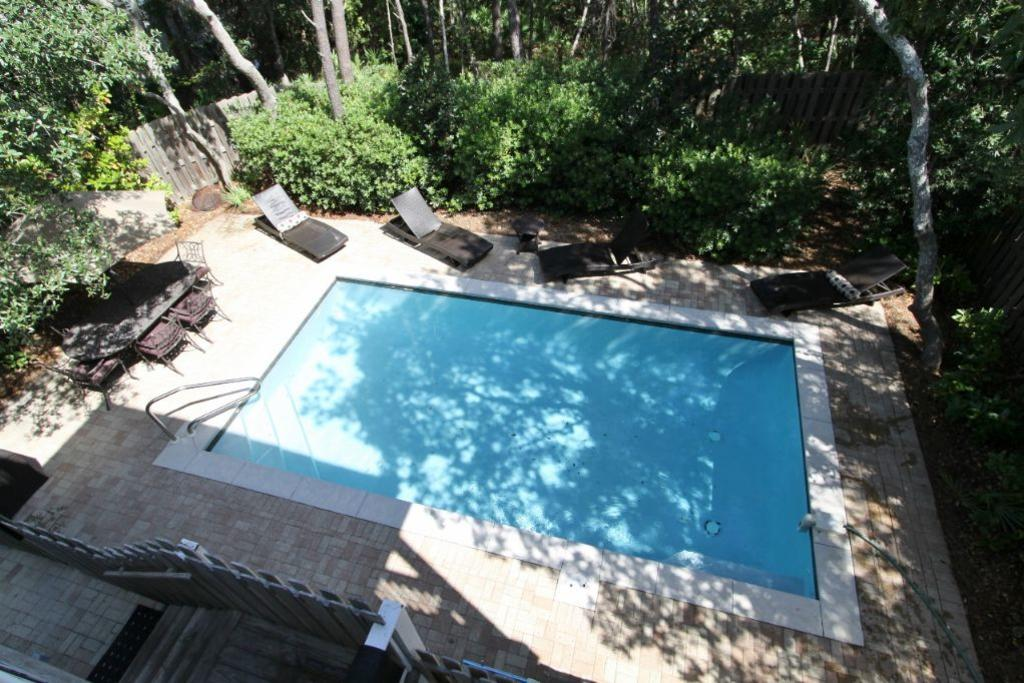 Pool as seen from second floor master porch