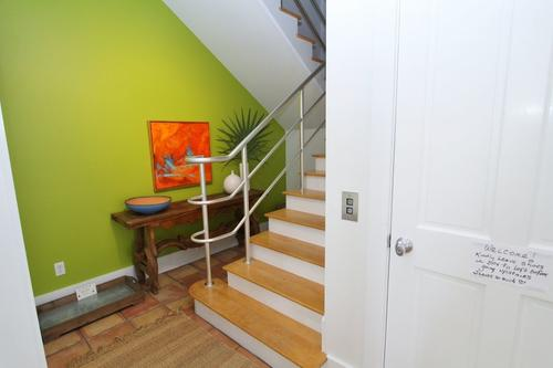 Entry foyer showing elevator on right