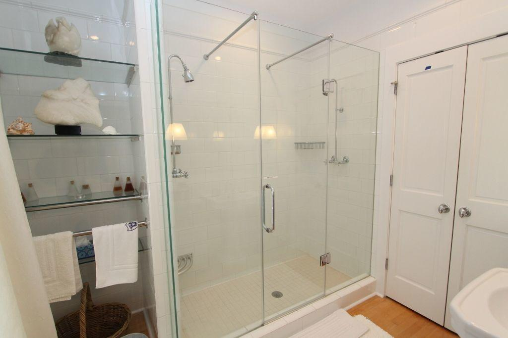 Master bath showing shower