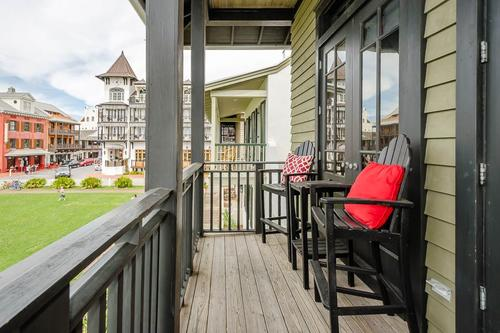 Front porch showing view toward town center