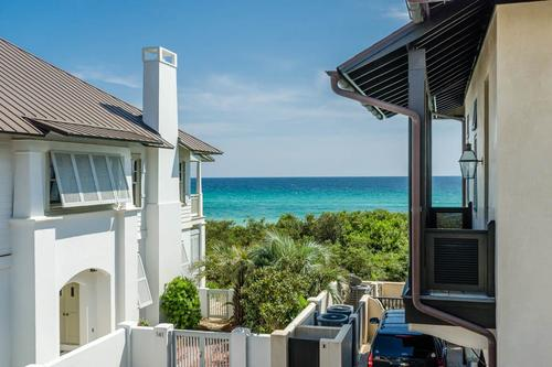 Gulf views from the carriage house balcony