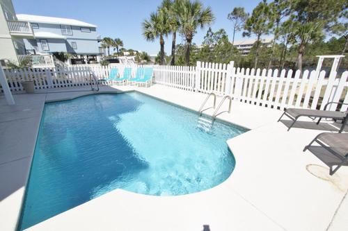 Large 12 x 24 heated pool with ample loungers