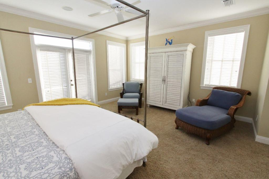 Seating in master bedroom