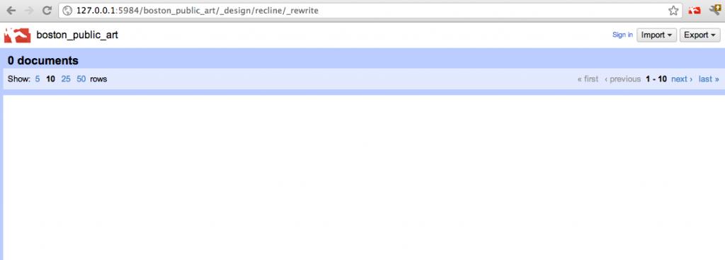 Screenshot of a fresh Recline install