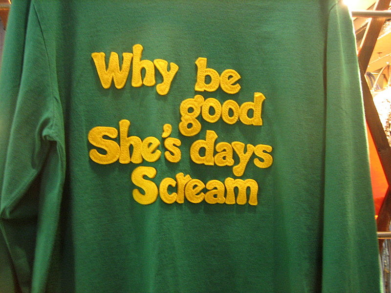 why be good she's days scream