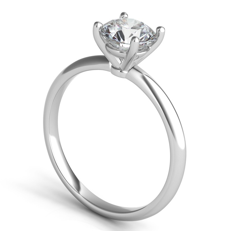 Sasha Primak Knife Edge 4 Prong Solitaire Engagement Ring