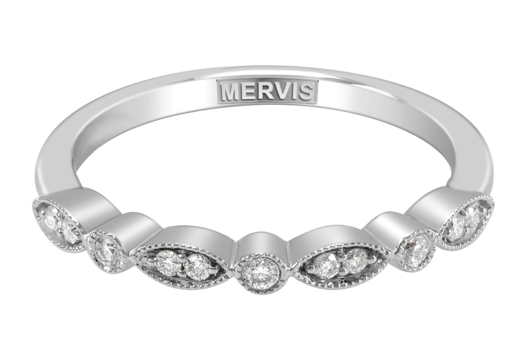 mervis bridal micropave 14k white gold wedding band