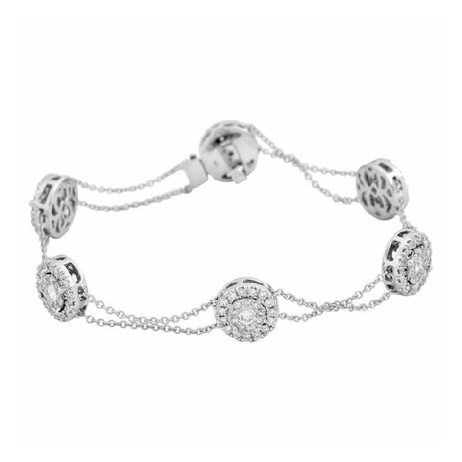 Martin Flyer Wedding Day Jewelry Diamond By the Yard Bracelet BPS01SQ-D
