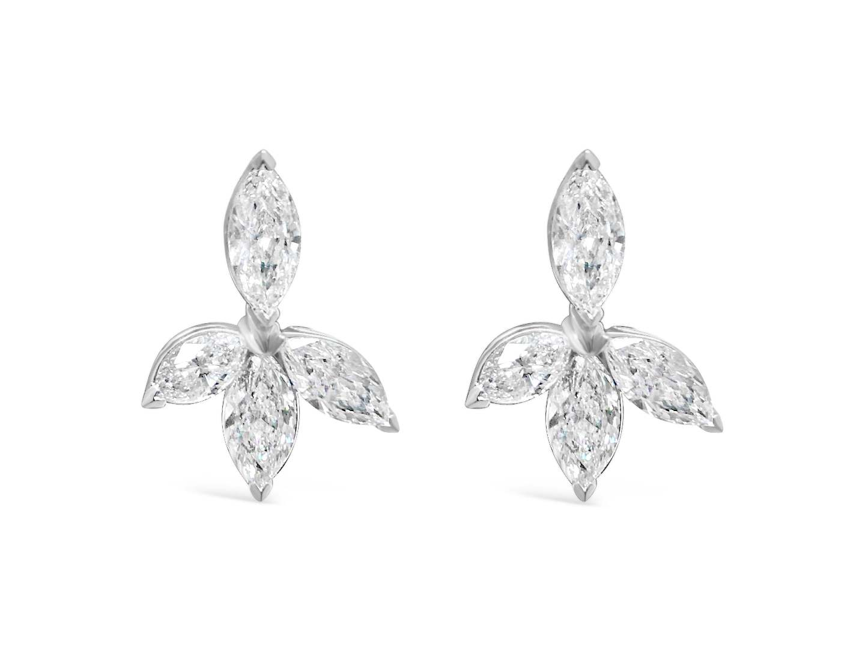 Dangle Cluster Earrings
