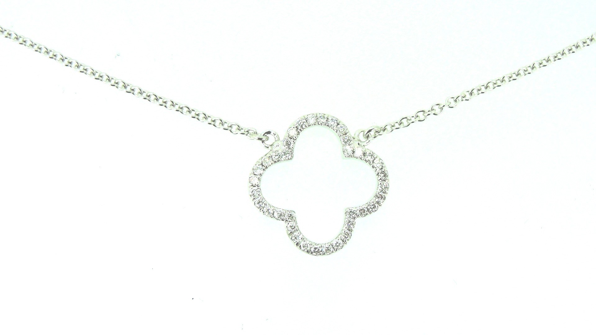 Double Sided Open Clover Necklace