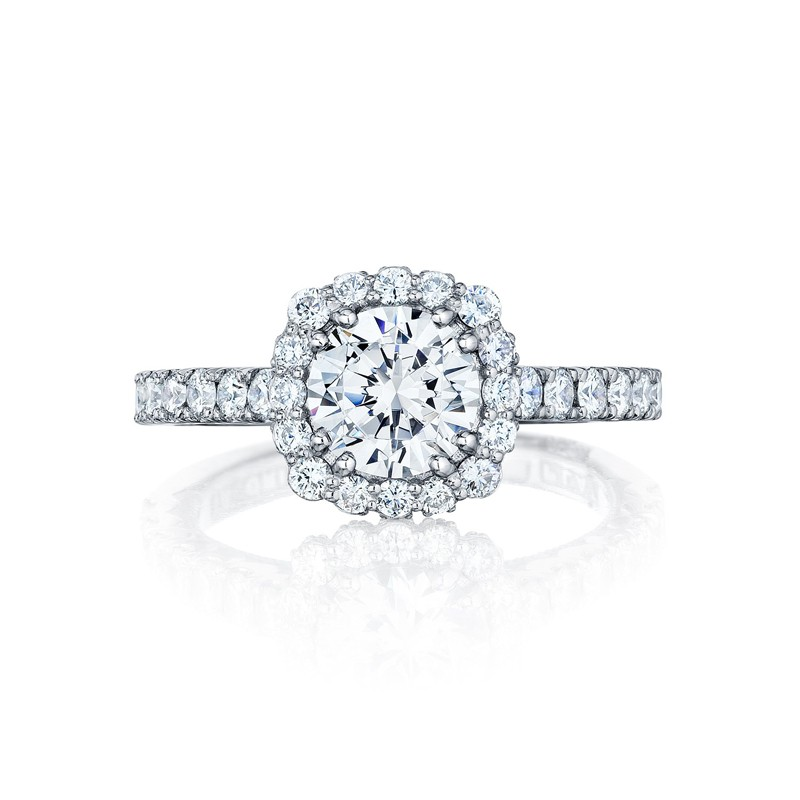 Tacori Full Bloom Collection Round Cut Ring 37 2CU65 All Engagement