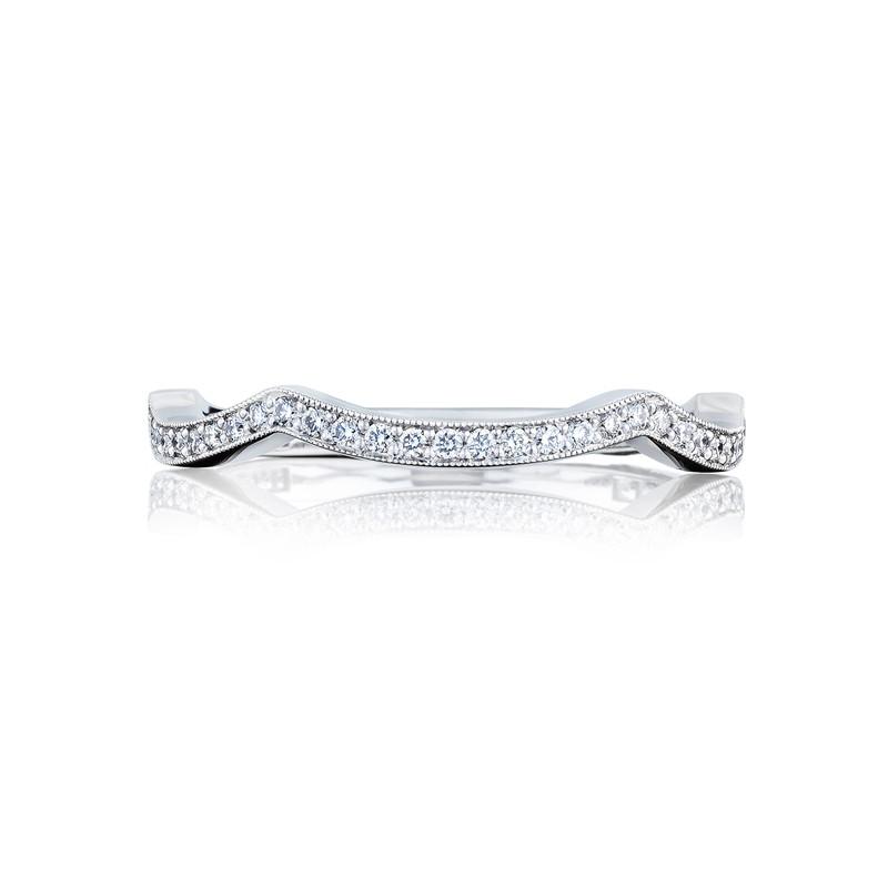 tacori ribbon collection wedding band 2647mdb - Tacori Wedding Rings