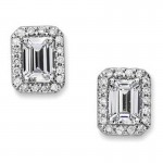 Precision Set Diamond Half Round Modified Emerald Cut Channel Set Band