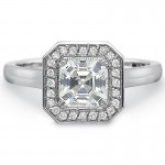 Precision Set Petite FlushFit™ Diamond Pave Halo Engagement Ring