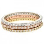Stackable Diamond Eternity Ring Yellow Gold