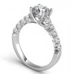 "Sasha Primak ""Royal Prong"" Intertwined 10 Stone Diamond Engagement Ring"