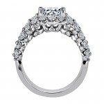 "Sasha Primak Three-Row ""Royal Prong"" Diamond Engagement Ring"