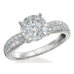 Memoire Four Prong Diamond Ring MBQ8R-0100TW