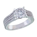 Memoire Designer Diamond Engagement Ring MBQ96R-0100TW