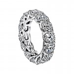 "Sasha Primak Cushion-Cut Diamond ""Trellis"" Eternity Band"