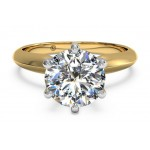 Ritani Solitaire Ring 1RZ7265CRWG-6