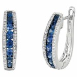 Martin Flyer Precious Trends Colored Gemstone Earring EGS08SRDAQ-F