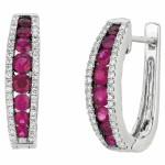 Martin Flyer Precious Trends Colored Gemstone Earring EGS08SRDBQ-F