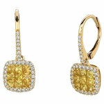 Martin Flyer Precious Trends Yellow Sapphire Earring EIS02SYAYQ-F