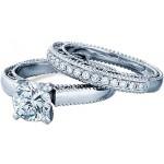 Verragio Milgrain Diamond Engagement Ring