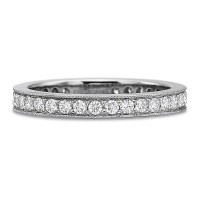 Precision Set Diamond Eternity Bead Set Band