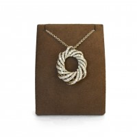 Swirling Diamond Lane Necklace
