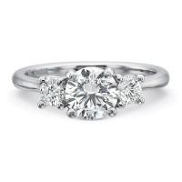 Precision Set New Aire Three Stone Diamond Engagment Ring