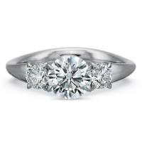 Precision Set Silk Three Stone Engagement Ring