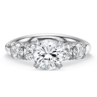 Precision Set Silk Five Stone Engagement Ring